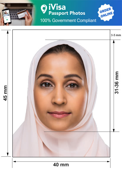 afghanistan passport photo requirement and size