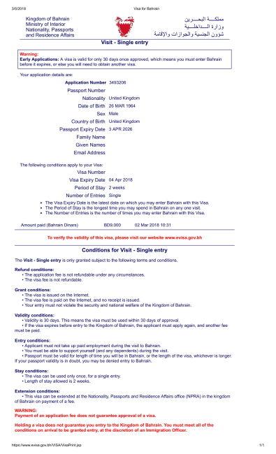 How To Apply Family Visit Visa In Bahrain