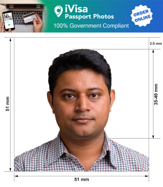bolivia passport photo requirement and size