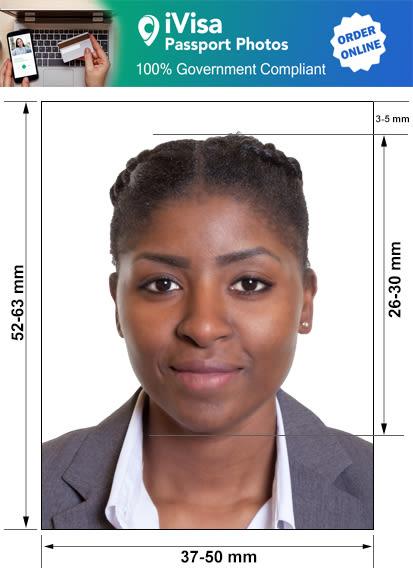 botswana passport photo requirement and size