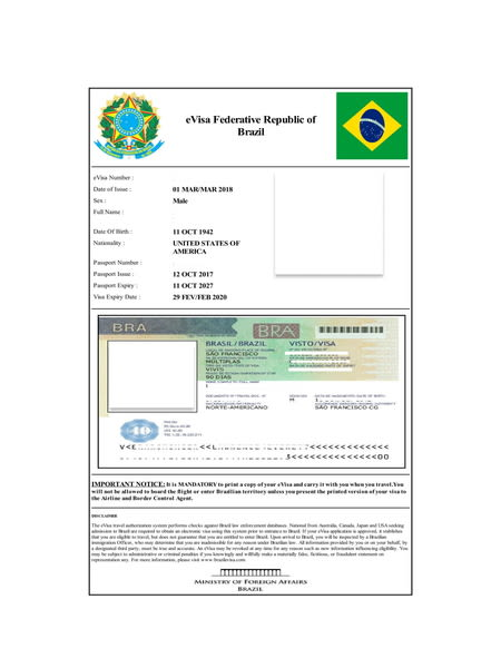 Brazil E Visa Processing Time