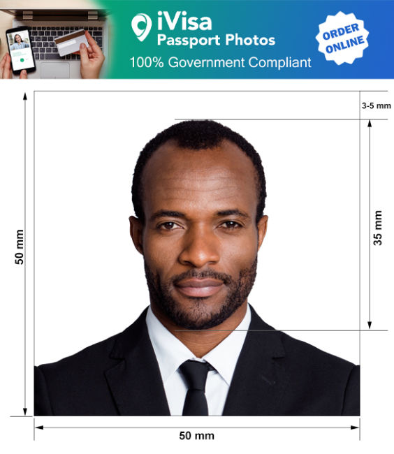 chad passport photo requirement and size