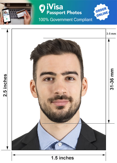 colombia passport photo requirement and size