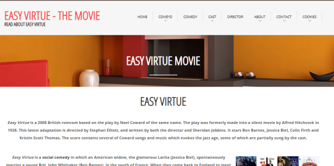Easy Virtue Movie domain image
