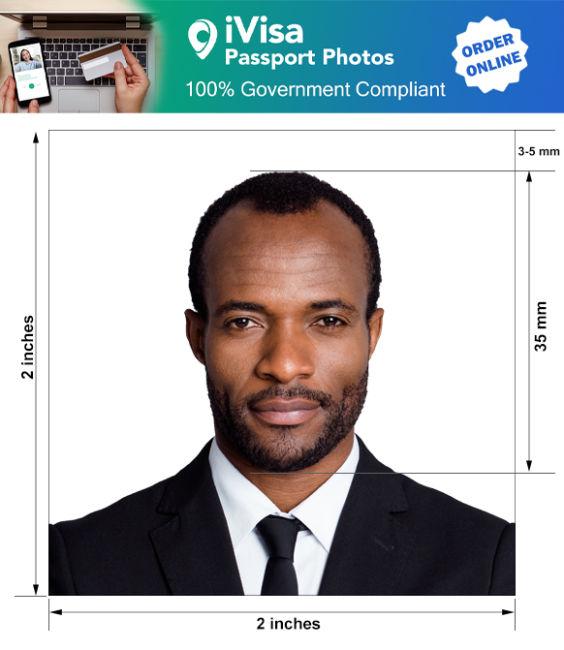 haiti passport photo requirement and size