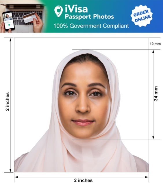 iraq passport photo requirement and size