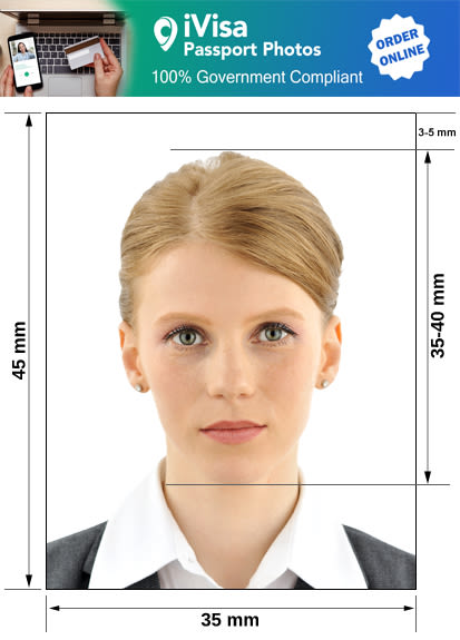 ireland passport photo requirement and size