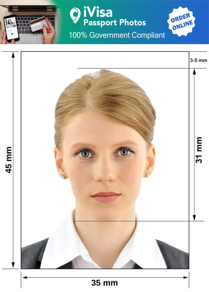 moldova passport photo requirement and size