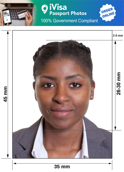 south africa passport photo requirement and size