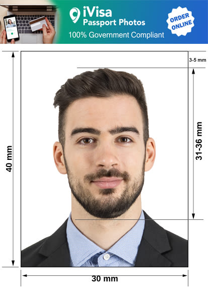 spain passport photo requirement and size