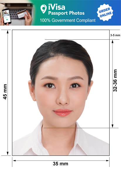 taiwan passport photo requirement and size