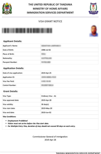 Tanzania Visa For Algerian Citizens