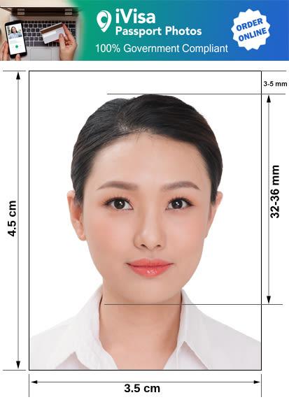 tuvalo passport photo requirement and size