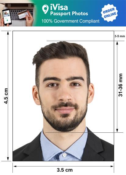 uruguay passport photo requirement and size